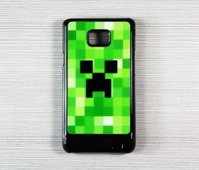 Minecraft Creeper Samsung Galaxy S2 SII i9100 Hard Cover Case